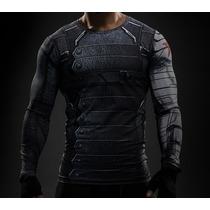 Blusa Fitness/compressão/heróis Marvel/sodado Invernal/3d