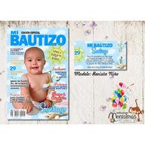 Invitacion Y Pase Imprimible Bautizo-comunion-presentacion