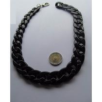 Collar Color Negro De Resina Super Liviano Grueso