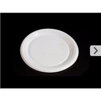 Prato Plástico Refeição Branco Pr 26 Cm Caixa Com 250 Barato
