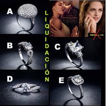 Anillo Compromiso Diamante Zirconio Joya Fina Regalo Novia