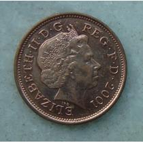 1901 Inglaterra 2001 Two Pence 26mm - Bronze Elizabeth
