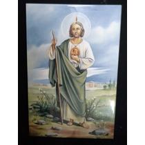 San Judas Tadeo Imagen En Azulejo 30cm X 20cm
