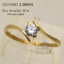 Cintillo Oro 18 Kt Mod 2 Grifas Piedra Cubic Amarillo Rosado