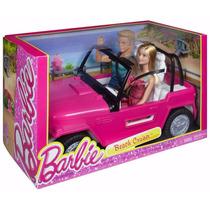 Barbie Auto De Playa Mattel 100% Original Muñeca + Ken