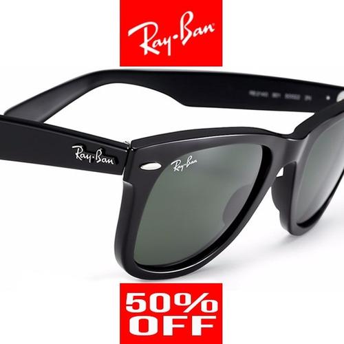0d1d5f54c Oculos Ray Ban Wayfarer Rb2140 Preto verde Envio Em 24h - R  320
