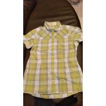 Camisa Columbia 100% Origjnal De Vestir De Cuadros Verdes