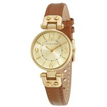 Reloj Anne Klein Acero Dorado Piel Café Mujer 109442chhy