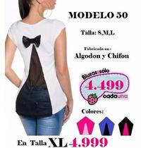 Maxxi Ofertas!!..espectaculares Blusas En Algodón Estrech!.