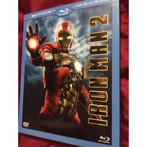 Iron Man 2 Bluray/dvd Nuevo Y Sellado Marvel Fase 1
