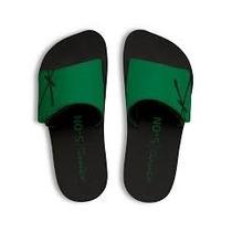 Chinelo Kenner Kivah Couro Preto Velcro Original