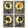 Cuadro Moderno Africano - Pintado A Mano - Diseño Original