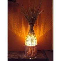 Luminária Decoração Rustico Artesanal Em Cacho De Açaí