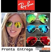 Kit Com 5 Oculos De Sol Raiban Aviador Atacado Revenda