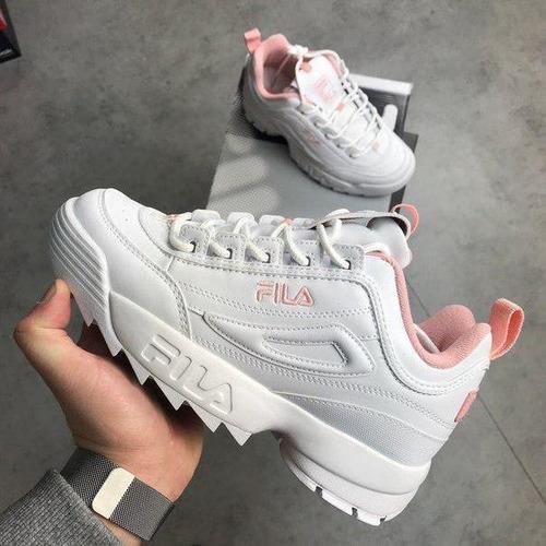 Tenis Zapatillas Fila Disruptor Low Blanca Rosada Mujer -   174.900 en  Mercado Libre 451ee323b66