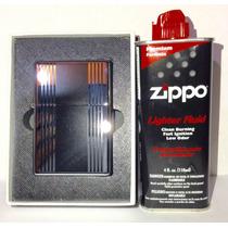 Encendedor Gigante Tipo Zipp Y Líquido Zippo