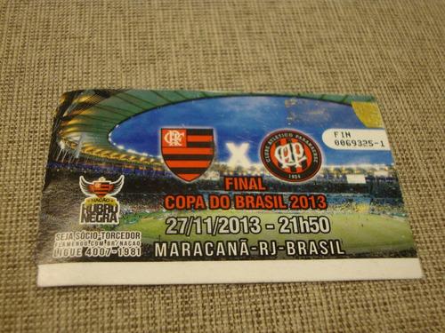 Ingresso Final Copa Do Brasil 2013 - Flamengo X Atletico-pr - R$ 60,00 em  Mercado Livre