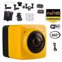 Filmadora Câmera Cube Soocoo 360º Graus Hd Panorâmica Wi-fi