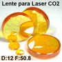 Lente Laser Co2 Corte Grabado D 12mm F 50.8mm Pantografo Cnc
