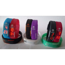 Relógio Pulseira Monster Digital Led Silicone Cores Nike