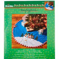 Bucilla Original. Base Para El Arbol. Let It Snow. Navidad