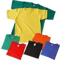 Franelas Unicolor De Algodon Ideales Para Estampar