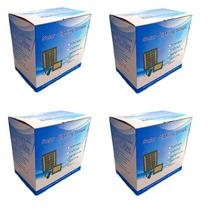Kit 4 Refletor Solar Holofote Luminária 54 Led Ultra Brilho