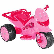 Moto Elétrica Infantil Tr1002sb Pink Star Power 20w 2,5 Km