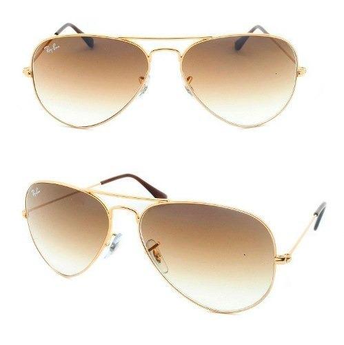 4ba5845ee8993 Óculos De Sol Ray-ban Aviador Com Lentes Degradê 3025l001 51 - R ...