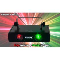 Steelpro Laser Doble Rojo 100mw + Verde 50mw Micro Rayo Dmx.