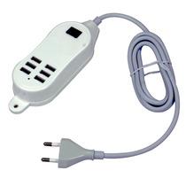 Hub Usb 6 Portas Extensão Elétrica 25w Carregador 5v Tomada