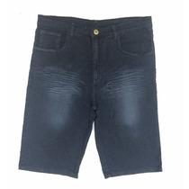 Bermuda Masculina Jeans Plus Size Pequeno Defeito 50 Ao 66