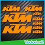 Ktm Kit Calcomanias Sticker Logos Moto 9 Piezas Alta Calidad