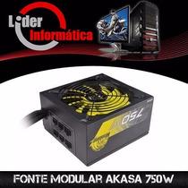Fonte Modular Akasa 750w 80% Eficiência Promoção!!!!*