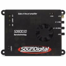 Modulo Soundigital Sd600.1 Sd600 600w Rms 1 Canal 2 Ohms