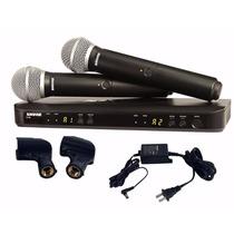 Microfone Duplo Sem Fio Shure Blx288/pg58 - Pg288 Uhf