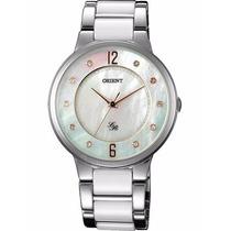 Reloj Orient Dama Chapado Oro Blanco Fqc0j006w0 | Watchito