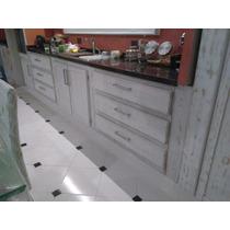 Mueble De Cocina Patinado-minimalista-macizo