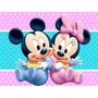 Kit Imprimible Minniey Mickey Bebe Tarjetas Cotillon Fiesta