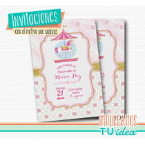 Fiesta Carrousel - Invitación Carrousel Para Imprimir