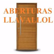 Aberturas Oblak Puerta Exterior Madera Grandis 2331 90x200