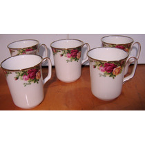 5 Tazas Tipo Cubilete Old Country Roses