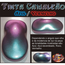 Tinta Camaleão Vermelho Azul Chameleon Paint Color Red Blue