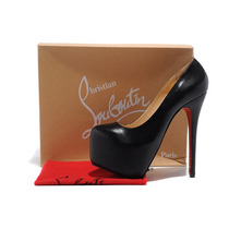Sapato Christian Louboutin Original Black 160mm N 38 Luxuoso