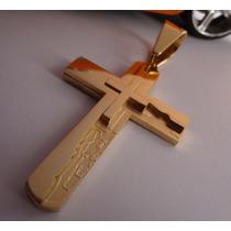 Pingente Masculino De Aço Inóx Crucifixo Cruz Grande 65 A