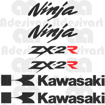 Kit Adesivos Kawasaki Ninja 250 R Carenagem Rabeta Zx2r Zx 2