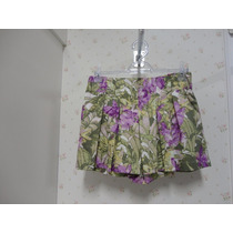 Saia Shorts Florida - Tecido - Rodada Babado - Shorts Saia