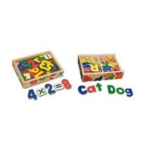 Melissa & Doug Deluxe Letras Y Números Magnéticos En Un Box