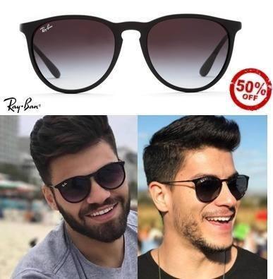 Óculos Rayban Erika Rb4171 Fosco Masculino Feminino Vintage - R  269,49 em Mercado  Livre 87f5caed5b