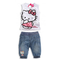 Conjunto Infantil Com Calça Jeans De 6 A 9 Meses